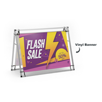 A-Frame 4ft Banner Displays