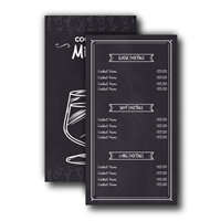 Wipeable Single Page Menus